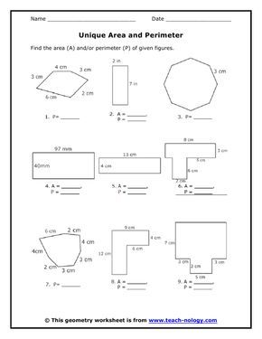Area of Polygons Worksheets Free   Standards Met: Area and ...