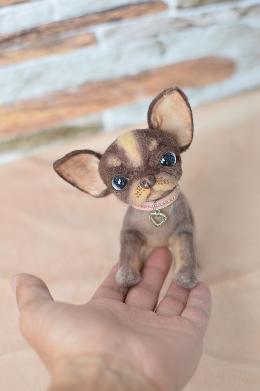 Handmade chihuahua plush dog teddy puppy pet doll toy