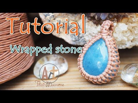 Photo of How to wrap a stone cabochon pendant with macrame technique/ easy tutorial