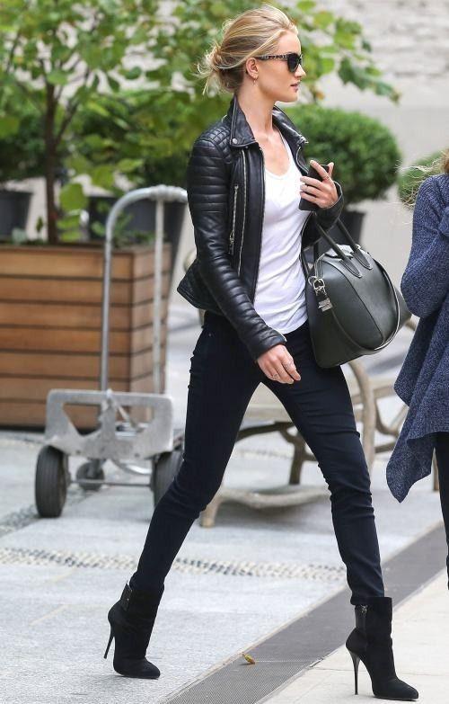 Resultado de imagen para celebs leather jacket