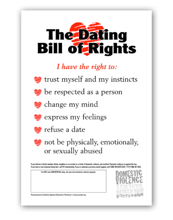 My dating bill of rights