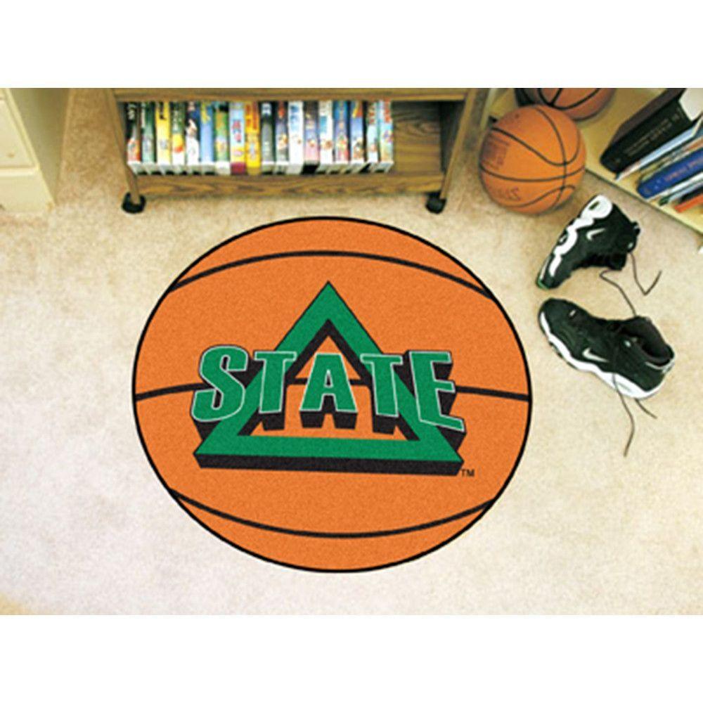 Delaware State NCAA Basketball Round Floor Mat (29