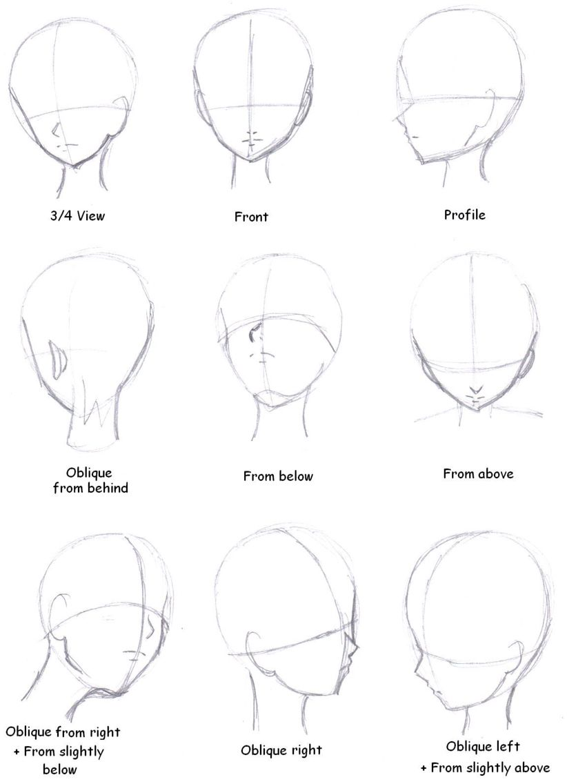 Face Shapes Anime Drawings Tutorials Drawing Heads Manga Tutorial