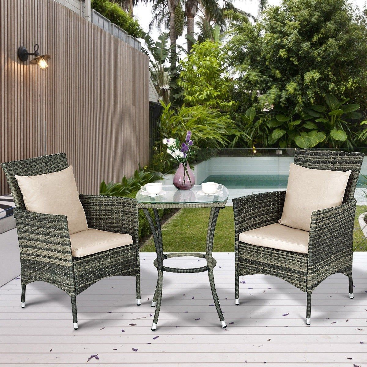 Excited To Share The Latest Addition To My Etsy Shop Patio Outdoor Garden Deck Furniture 3 Diy Patio Furniture Modern Outdoor Furniture Rattan Furniture Set