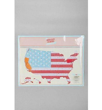 scratch-off usa travel map poster