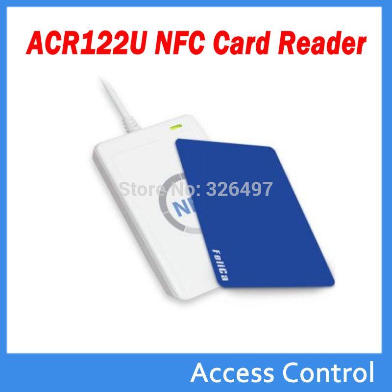 Acr122u nfcリーダライタ13.56 mhz rfidコピー機デュプリケーター+ 5装置stks uidカード+ 5装置stks uidタグ+ sdk + m-ifareコピークローンsoftwar