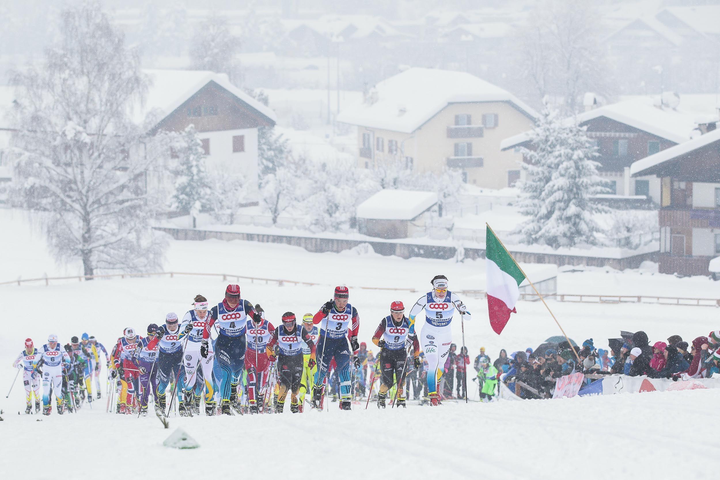 Ladies Junior Skiathlon 5 km C + 5 km F #Fiemme2014 #NordicSki #Skiathlon #SkiRelay #Sci #SkiJumping #NordicCombined #XCSkiing #SciNordico #SaltoSci #CombinataNordica #ValdiFiemme #Trentino #Sport #SportInvernali #WinterSports