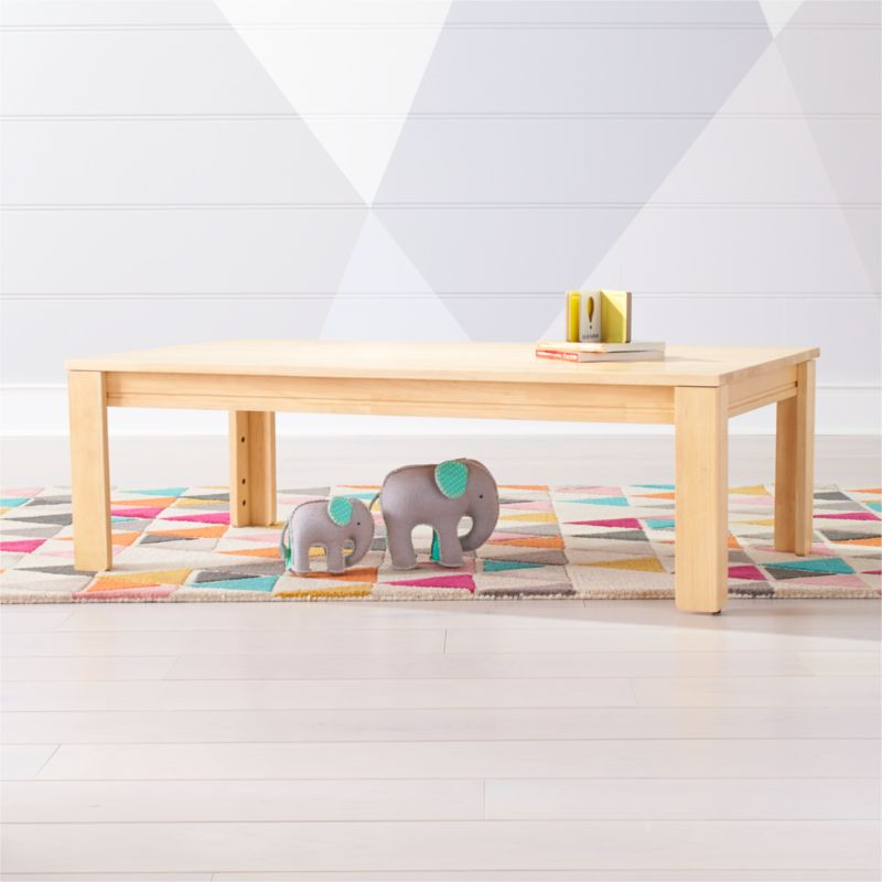 Shop Large Natural Adjustable Kids Table W 15 Legs Kid Table