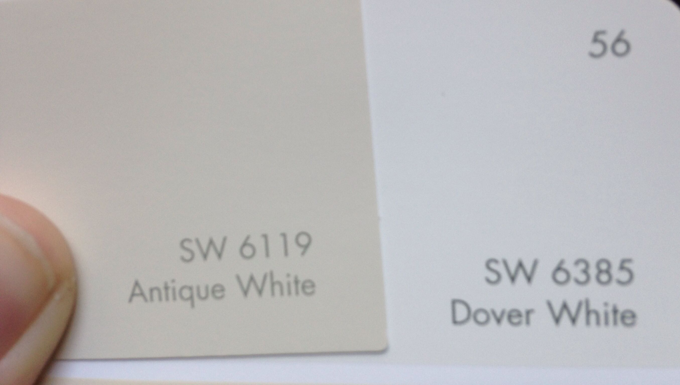 Colors For New House Lighter Walls And Ceiling Darker Doors Trim Antique White Dover Both By Sherwin Williams