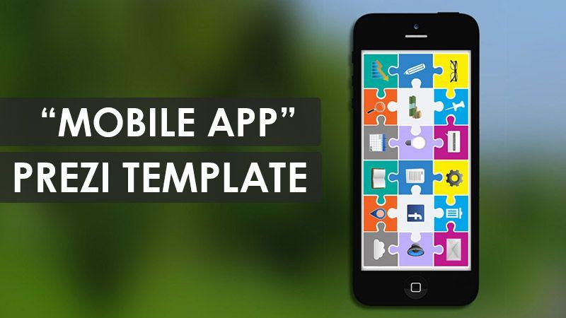 Mobile app prezi Template Prezi Templates Pinterest Mobile app