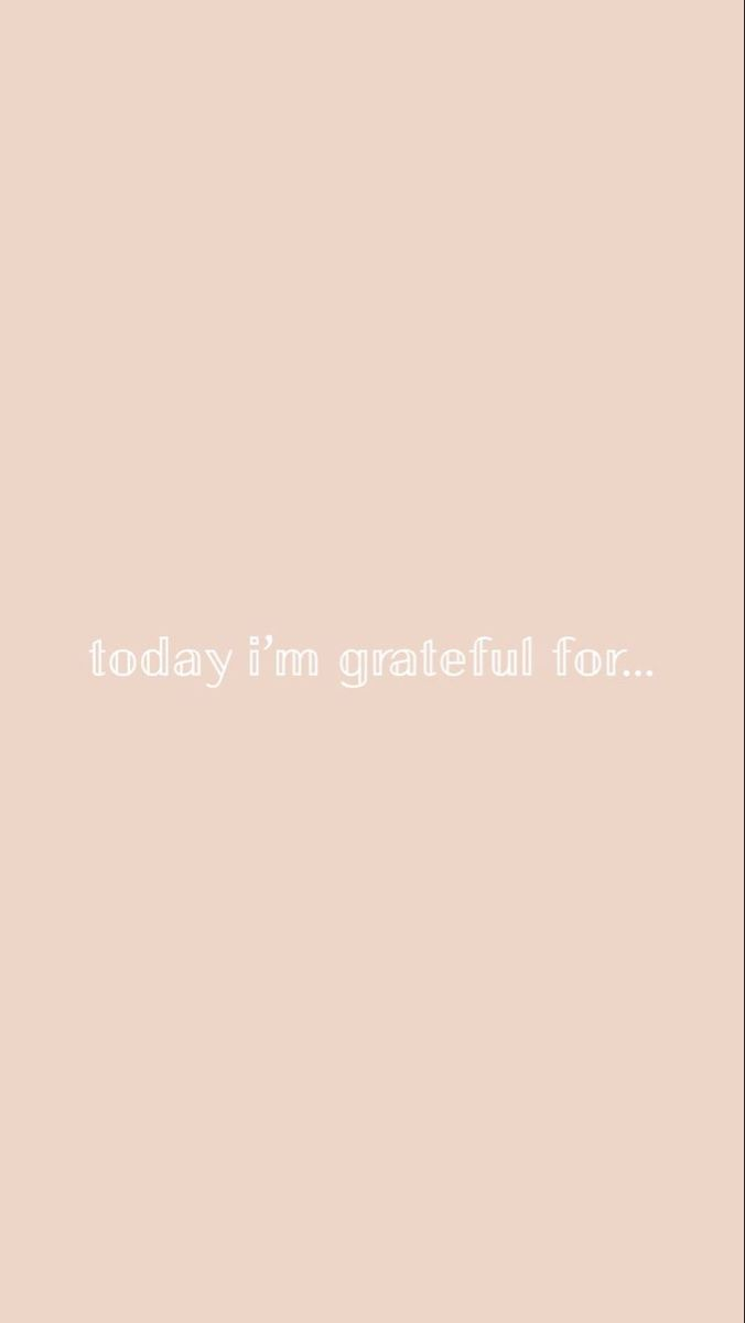 What are you grateful for today..