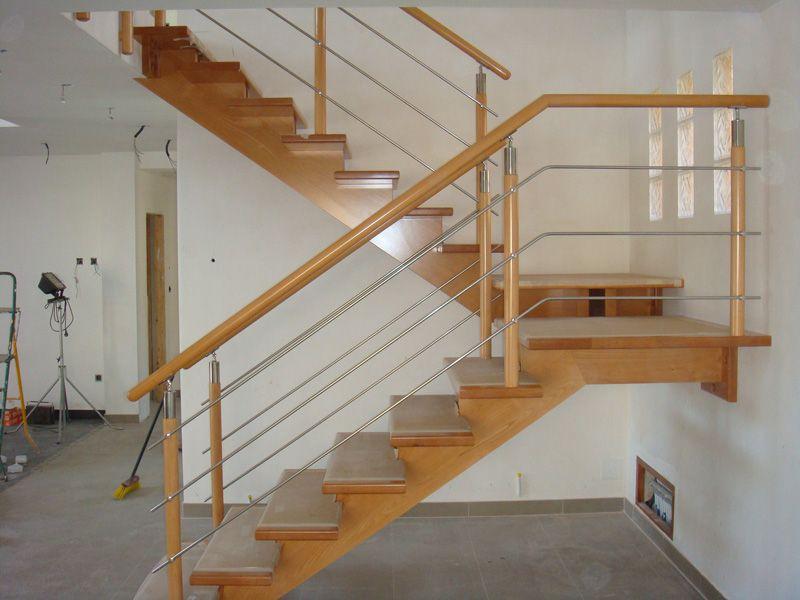 Torneados fuentespalda barandillas y escaleras de madera for Planos de escaleras de hierro