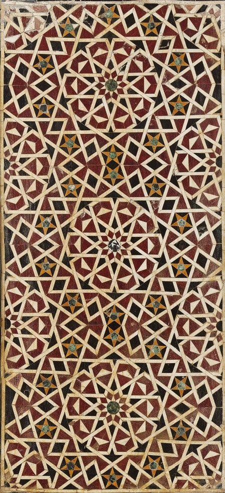 Wall Panel with Geometric Interlace  arabeggianti  Pinterest  Grafici Ceramica e Illustrazioni