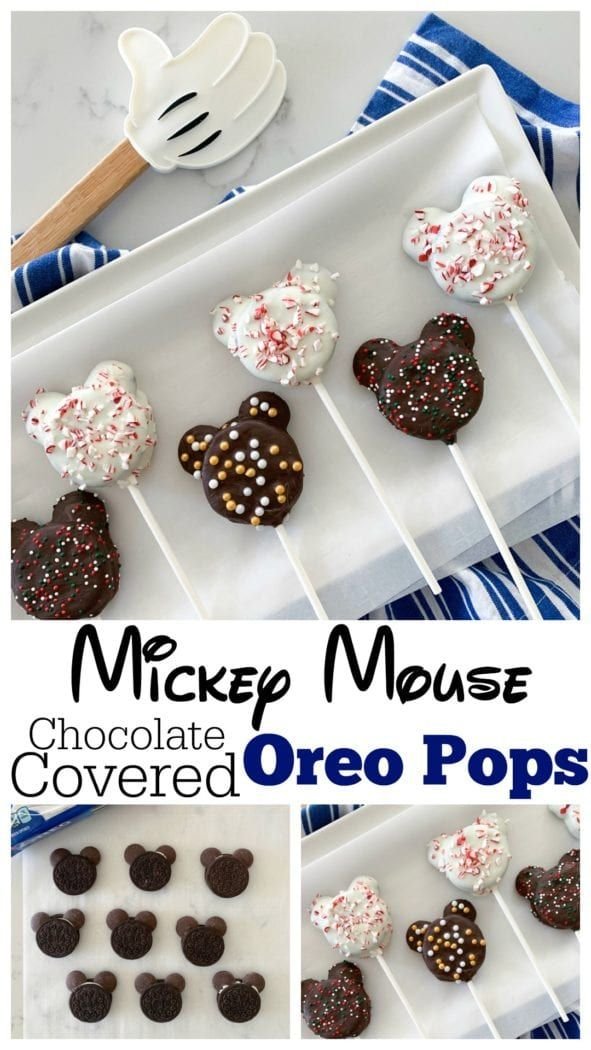 Mickey Mouse Chocolate Covered Oreo Pops #oreopops