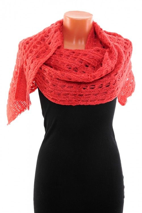 Шарф М0369 Размер: 200х30 Цвет: оранжевый Цена: 198 руб.  http://optom24.ru/sharf-m0369/  #одежда #женщинам #шарфы #оптом24