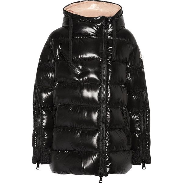 Moncler Liriope quilted glossed shell down hooded coat