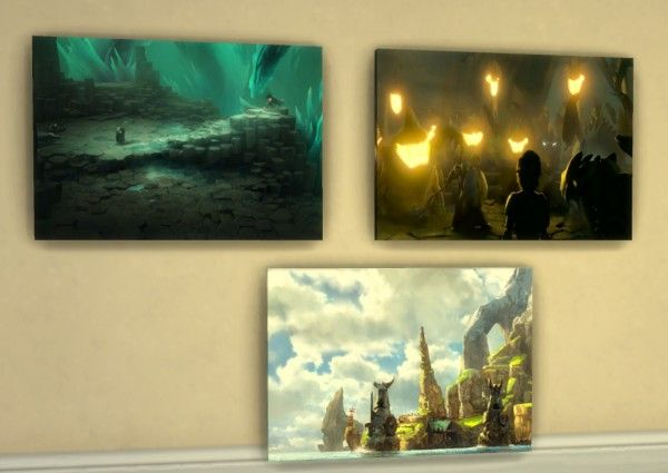 Mod The Sims: How to Train Your Dragon Wall Art by KisaFayd • Sims 4 ...
