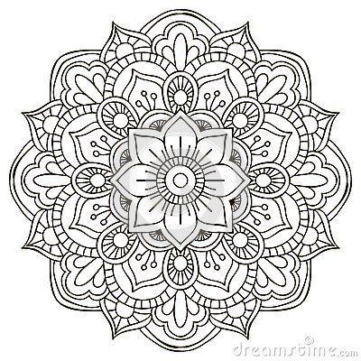 Mandala Para Colorear Mandala Art Mandala Doodle Flower Mandala