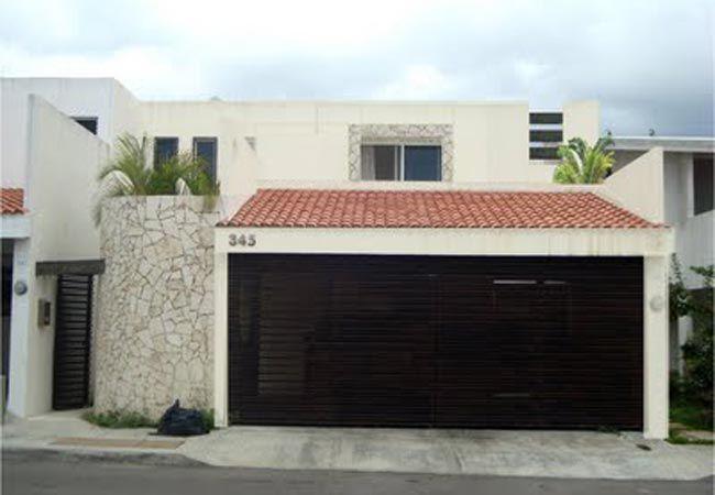 Fachada moderna con garage techado fachadas pinterest for Piani casa con breezeway al garage