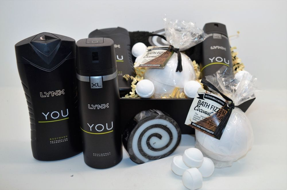 Fathers day hamper dad pamper lynx you gift box mens