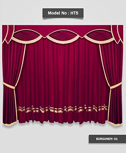 Saaria Decorative Events Show Studio Drapes 10 Ft Wide X 8 Ft High Velvet Curtain Decor Con Imagenes Cortinas De Navidad Studio Decoracion De Iglesia