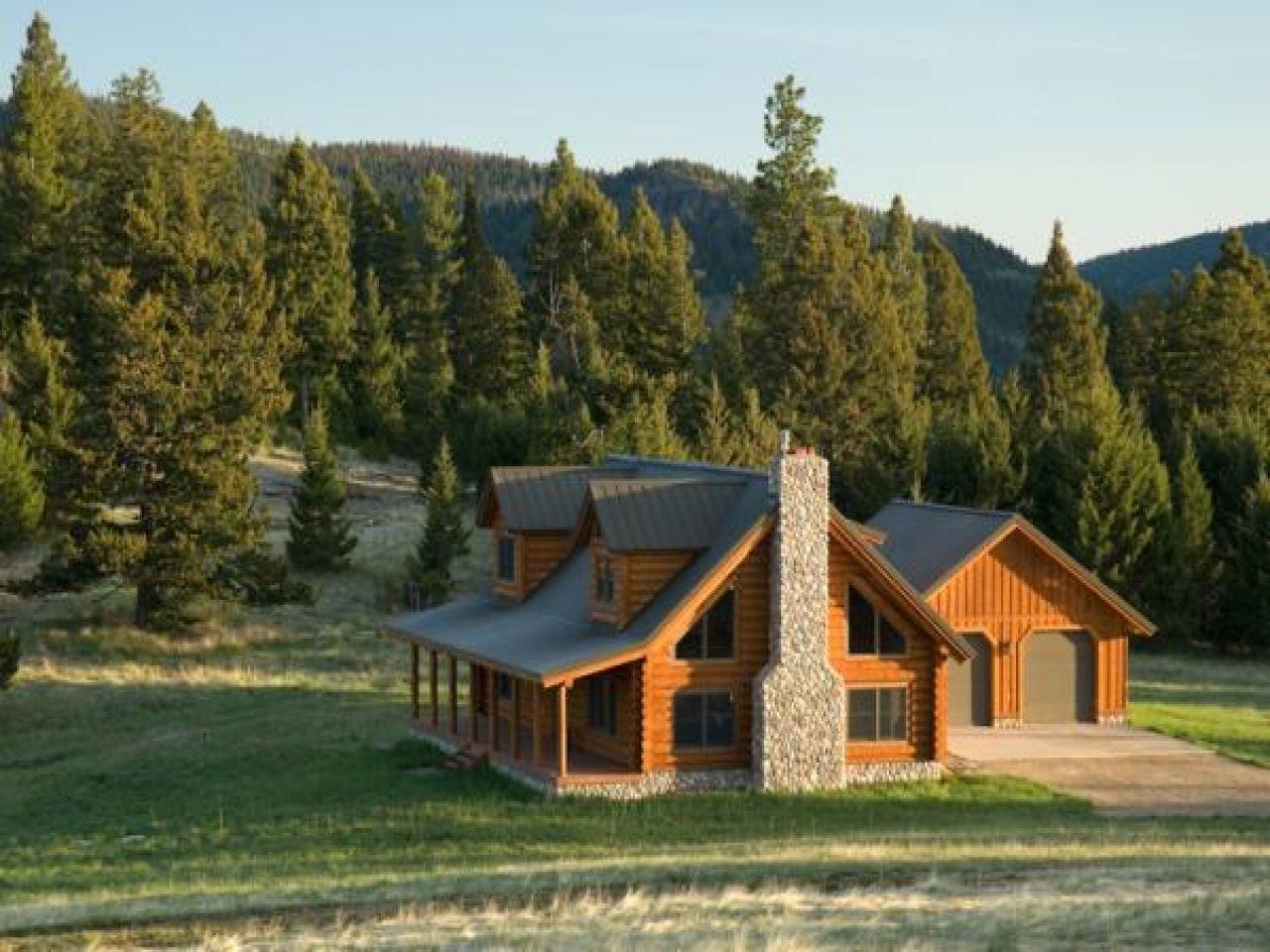 Montana Log Cabin Home Alaska Log Cabins Lrg