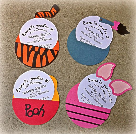 This listing is for 10 custom made character invitations in your – Tigger Birthday Party Invitations