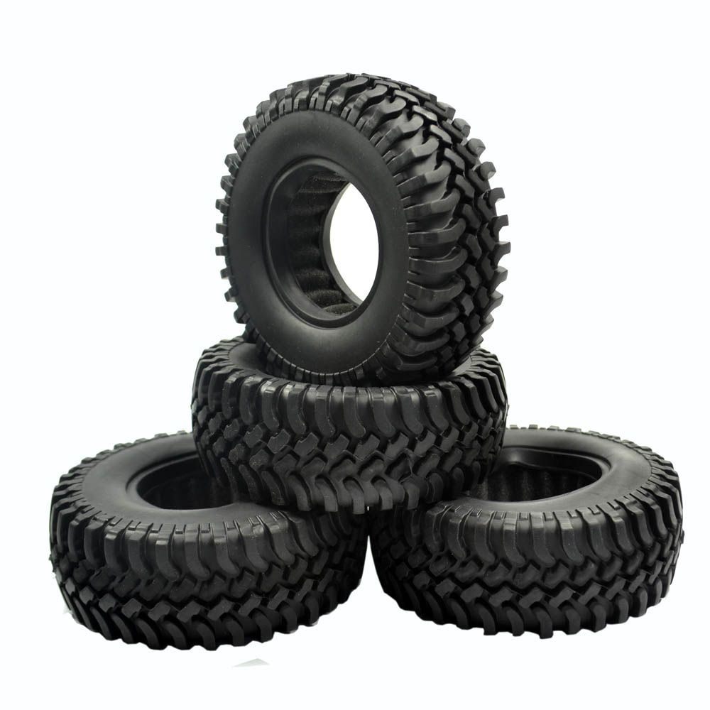 Rubber Crawler Tire Tyre Set For 1 9 Wheel 1 10 Rc Rock Crawler Car Buddies 4pcs Rock Crawler Wheel Rims Offroad Vehicles