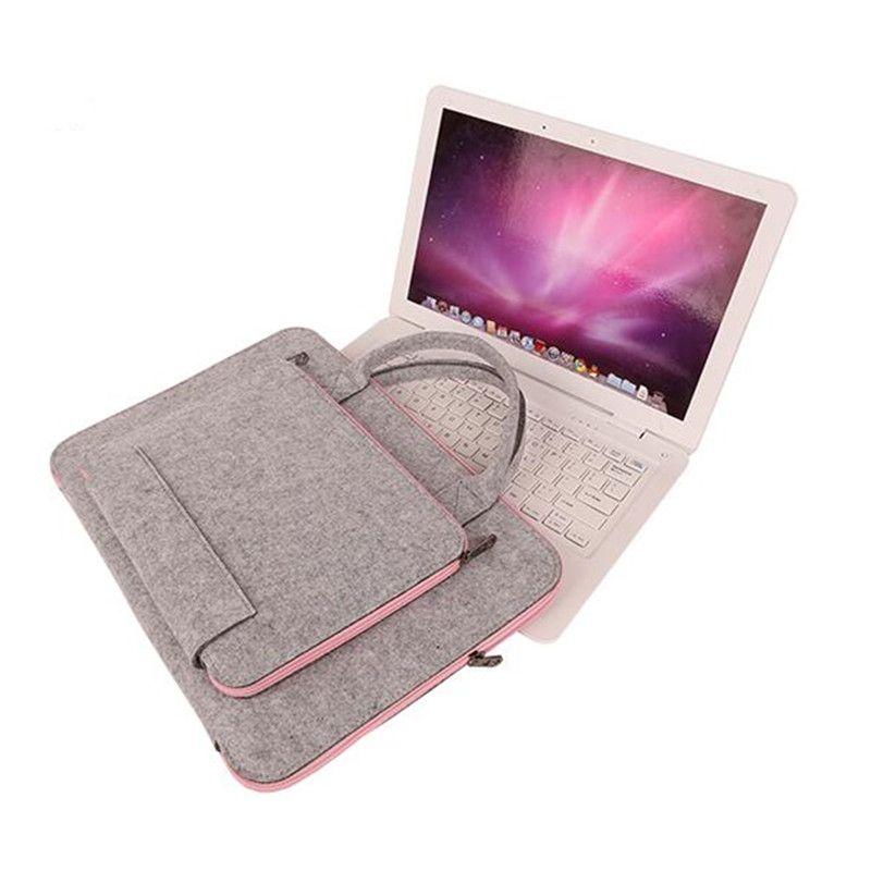 Universale 15.6 pollice lana feltro sacchetto del computer portatile del sacchetto per macbook air pro retina 11 13 15 pollice caso della borsa della cartella per macbook air 13