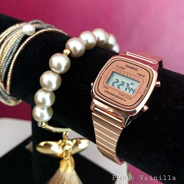 f57cfa118b91 Reloj Casio Mini . Tonos  Dorado pantalla negra Dorado pantalla dorada Rose  Gold