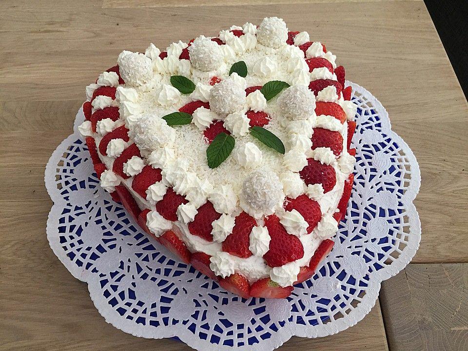 Erdbeer Raffaello Torte Hochzeit