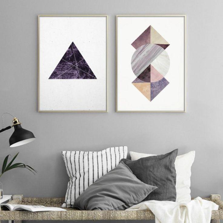 Photo of Set of 2 Prints, Scandinavian Art, Scandinavian Print, Scandinavian Wall Art, Living Room Wall Art,