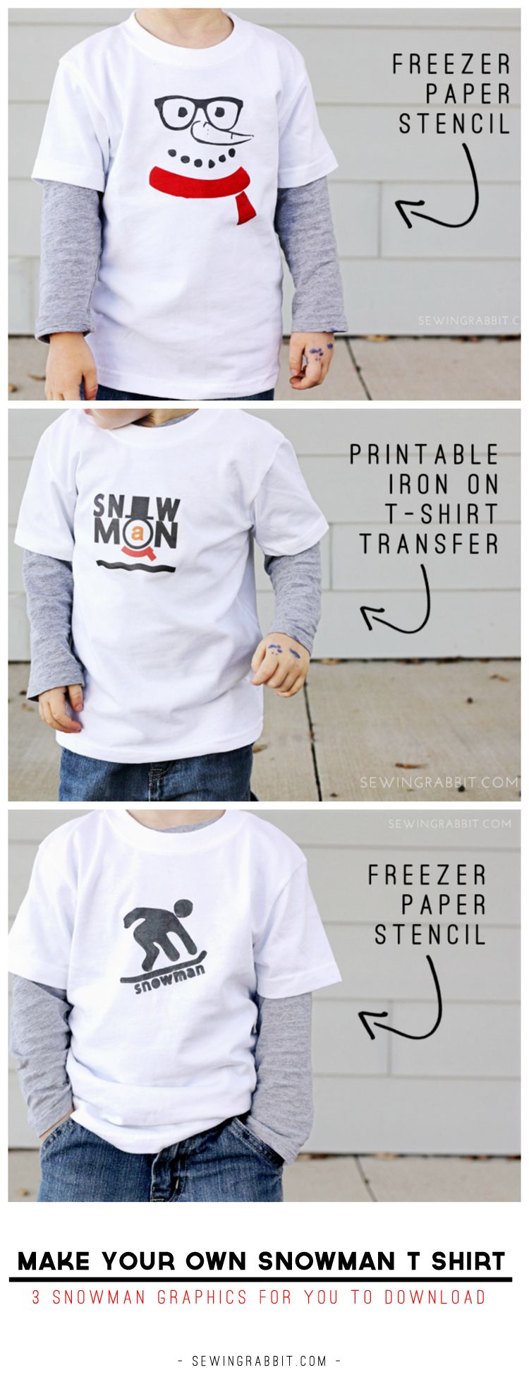 Make your own Snowman T-Shirts | Homemade t shirts, T ...