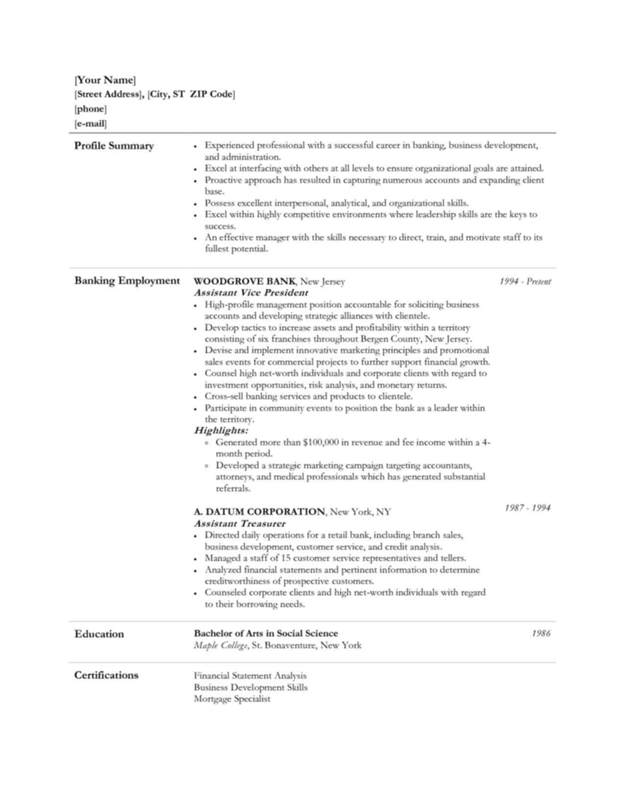 Resume Objective For Customer Service Banking Job Kizi Game Statement Bank Teller Examples Personal