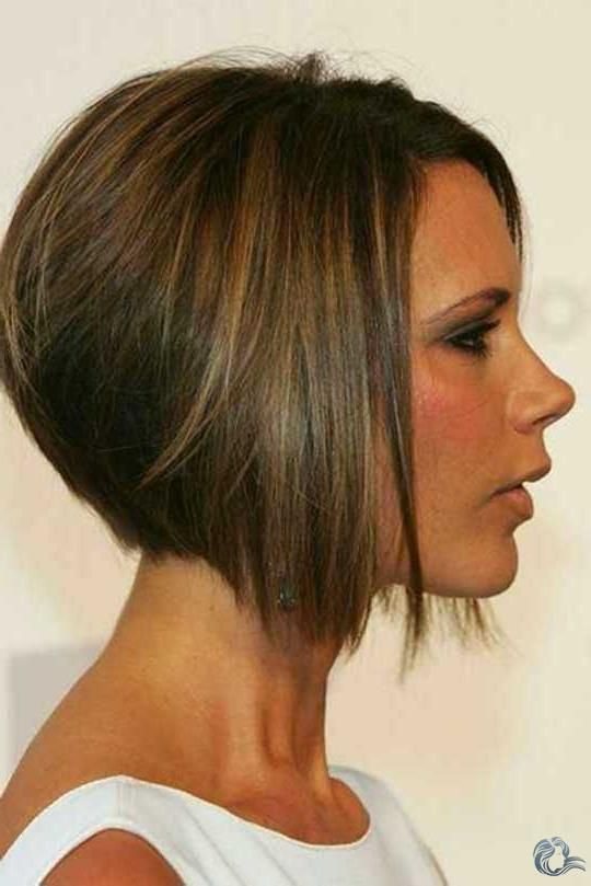 Neue Victoria Beckham Bob Haar Trend Bob Frisur Bob Frisur Hinten Kurz Vorne Lang Haarschnitt Bob