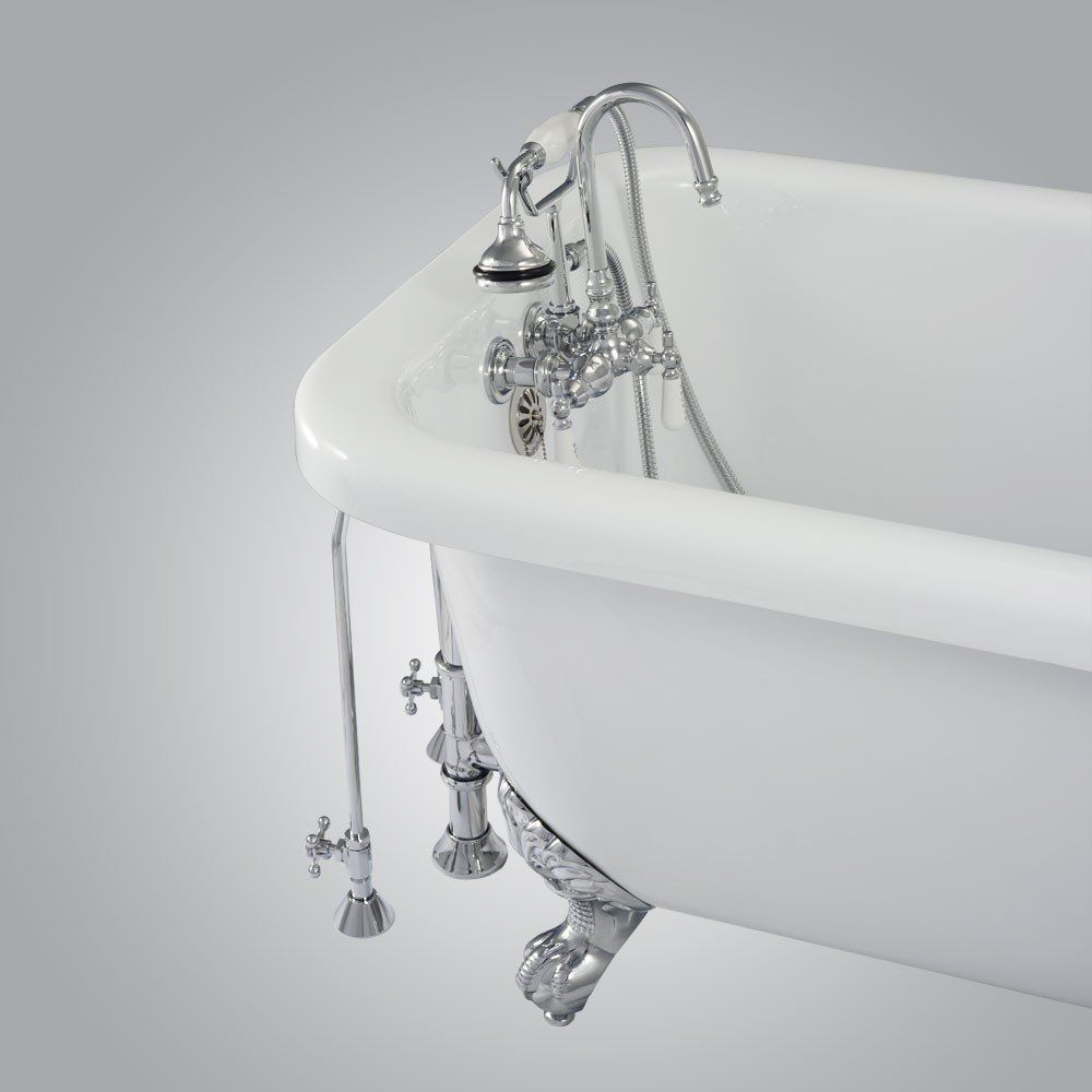 Randolph Morris Clawfoot Tub Wall Mount Gooseneck Faucet with ...