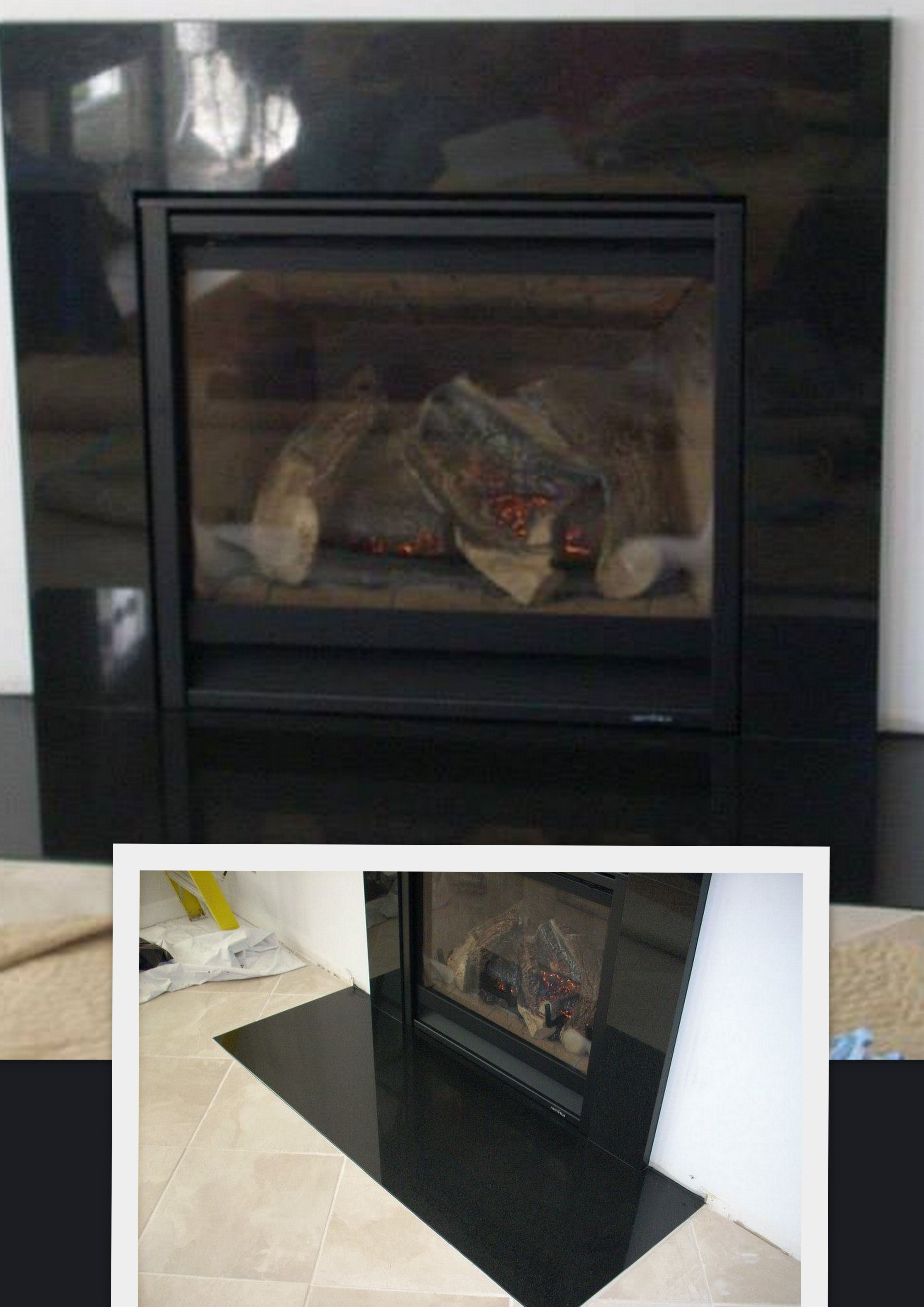 gas direct vent fireplace simple black granite surround with