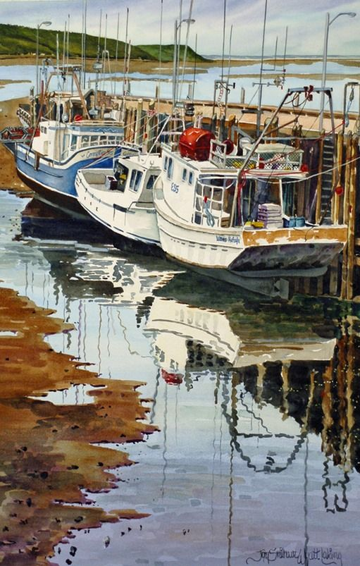 Boats of Avocate by Joy Laking.  This print would look very nice in my future house.
