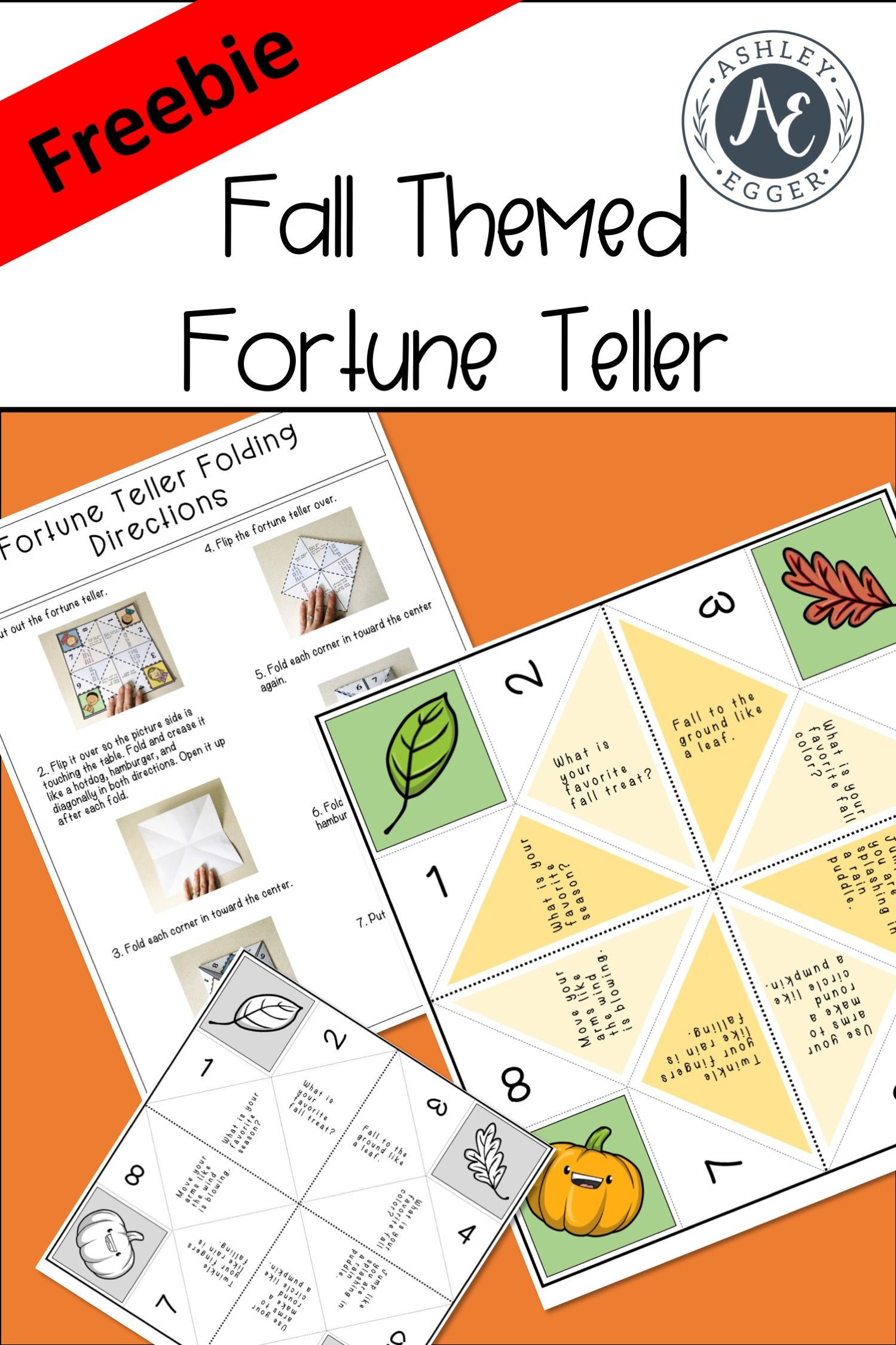 Fall Fortune Teller A Social Skill Game (With images