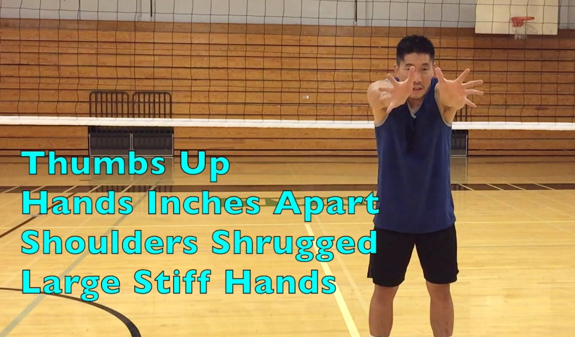 Middle Blocker Hand Arm Positioning How To Block A Volleyball Tutorial Part 2 2 Volleyball Workouts Volleyball Training Sport Volleyball