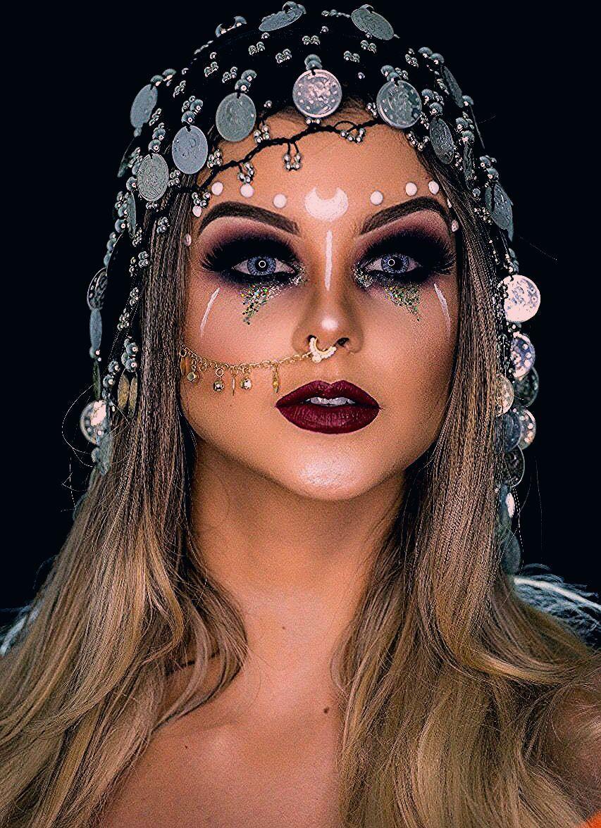 Wahrsagerin Halloween Make-Up #ad # Deco2 - Einfache Frisuren - New Ideas