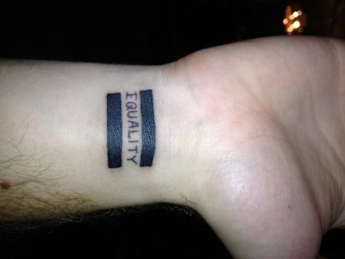 Equality Tattoo On Wrist For Men Tattoos Clan Equality Tattoos Small Tattoos For Guys Tattoos For Guys