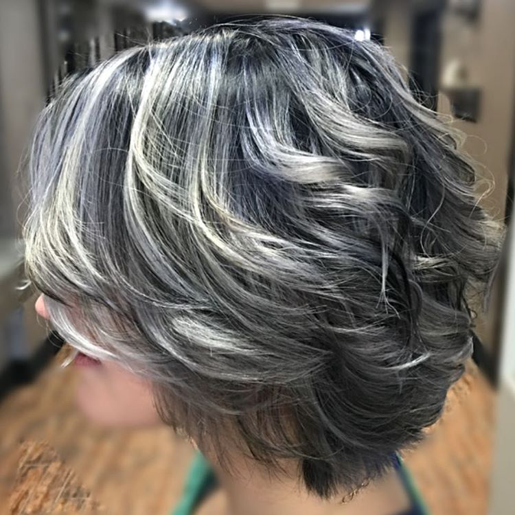 highlighting salt and pepper hair salt and pepper sterling silver designhairteam icy blue gray highlights finished with