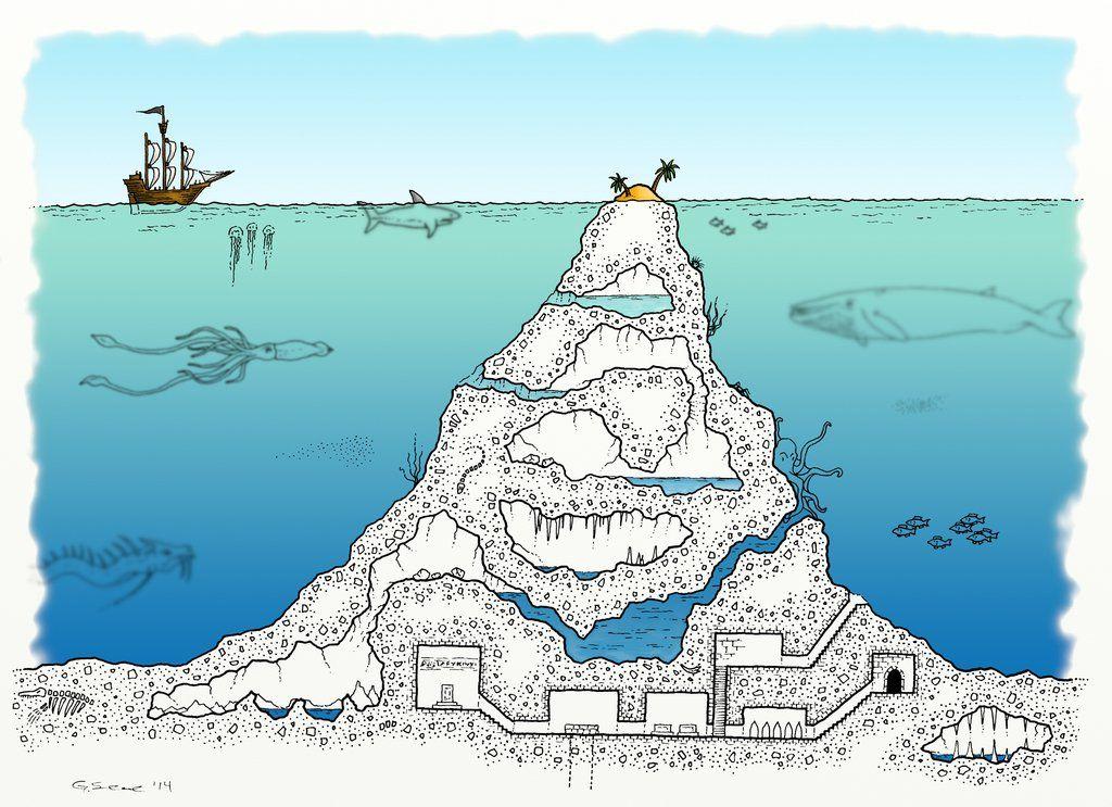 Ghost Sea Underwater Mount By Whirlpool Sea Map Dungeon Maps Underwater