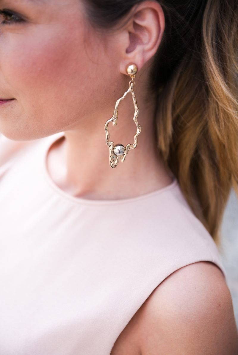 gold & silver statement earrings