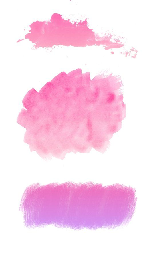 Watercolor Clipart 6 Pink And Purple Watercolor Brush Clip Art