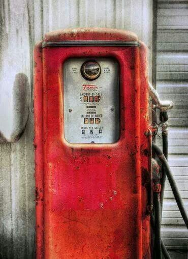 .43 cents....aged gas pump ... :) photo by Adam Baron....