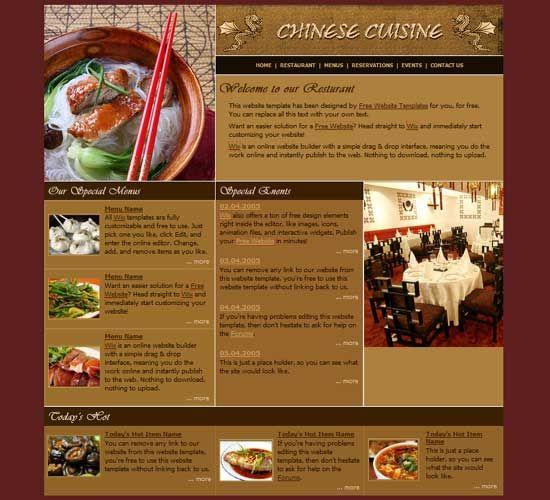 Restaurant website templates awesome restaurant websites free html - sample cafe menu template