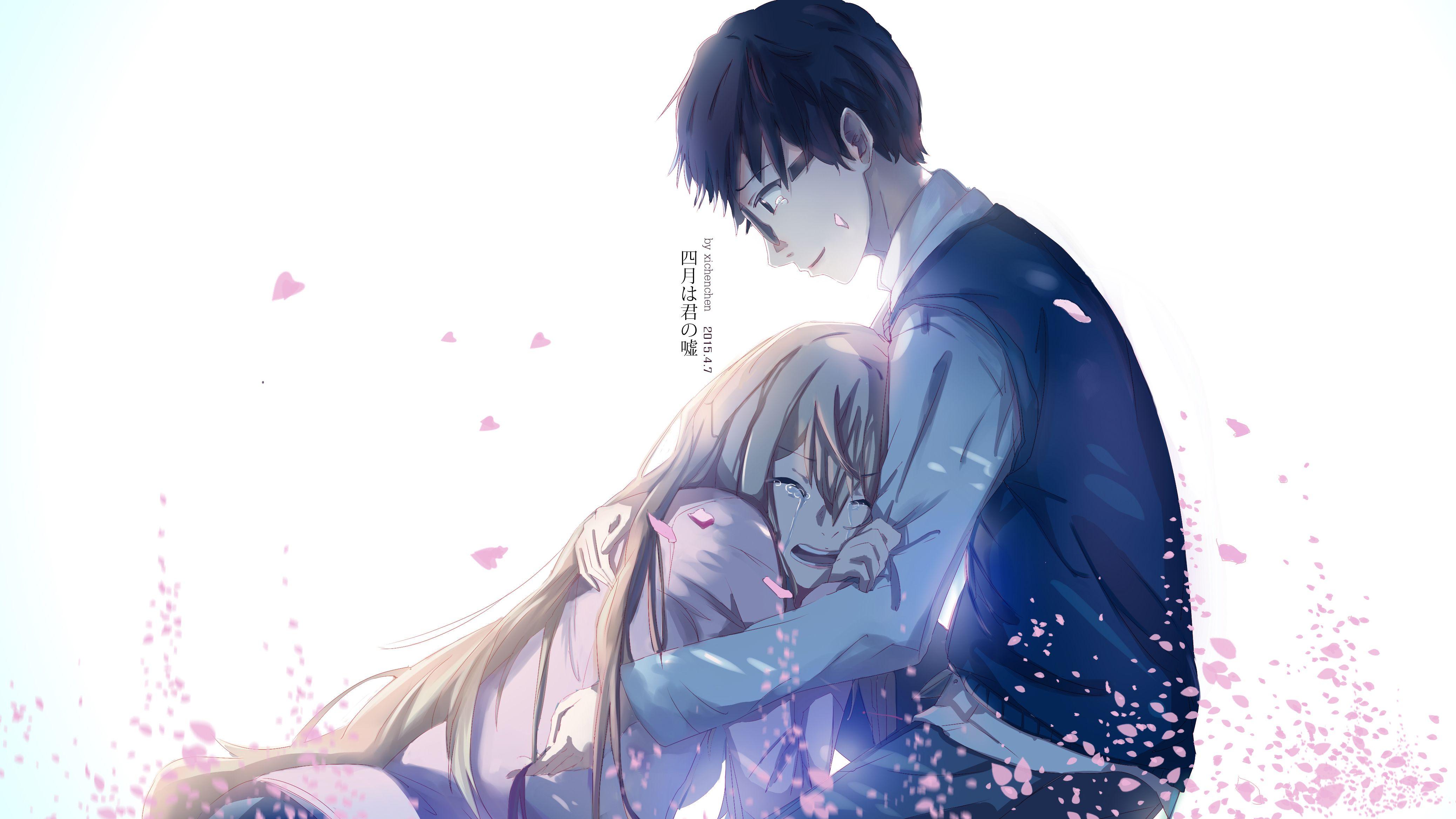 Anime Your Lie In April Kousei Arima Kaori Miyazono Wallpaper