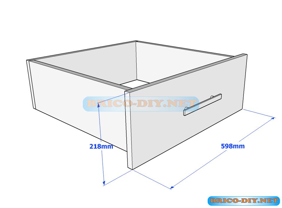 Plano caj n de melamina madera para ropero cajonera for Planos closet melamina pdf